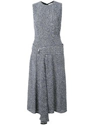 Victoria Beckham Drop Waist Dress Women Silk Linen Flax Acrylic Viscose 8 White