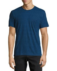 Faherty Short Sleeve Pocket Tee Dark Blue