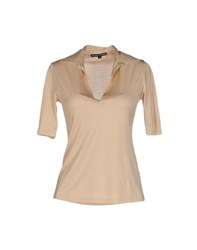 Ralph Lauren Black Label Topwear Polo Shirts Women Beige