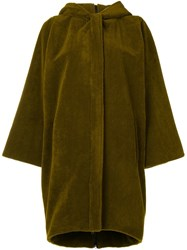 Gianluca Capannolo Hooded Single Breasted Coat Green