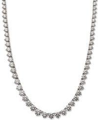Arabella Sterling Silver Necklace Swarovski Zirconia Necklace 53 Ct. T.W.