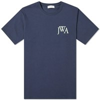 J.W.Anderson Jw Anderson Logo Embroidered Tee Blue