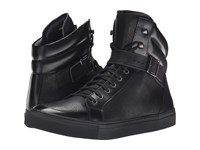 The Kooples Grained Leather Sneakers Black Men's Shoes