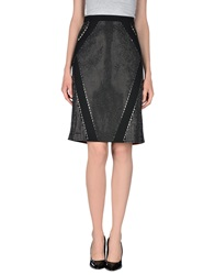 Angelo Marani Knee Length Skirts Black
