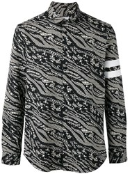 Les Benjamins Abstract Print Shirt Black