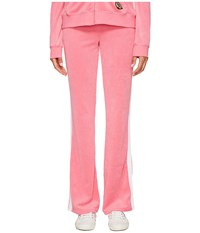 Juicy Couture Venice Beach Patches Microterry Del Rey Pants Precocious Pink Women's Casual Pants