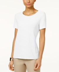Jm Collection Jacquard T Shirt Only At Macy's Bright White