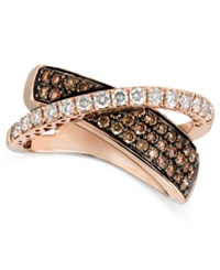 Le Vian Diamond Chocolate Diamond Crossover 1 1 8 Ct. T.W. In 14K Rose Gold