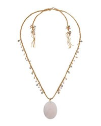 Lydell Nyc Semiprecious Pendant Necklace Pink