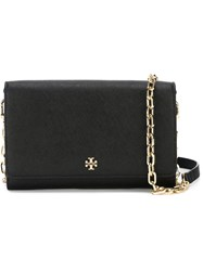 Tory Burch 'Robinson' Chain Wallet Black