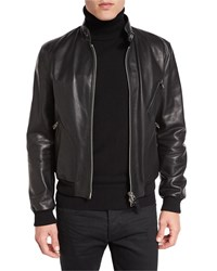 Tom Ford Icon Leather Biker Blouson Jacket Black