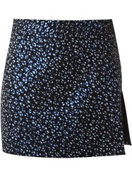 Giuliana Romanno Abstract Print Skort Black