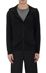 Ovadia And Sons Tech Jersey Zip Front Hoodie Black