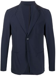 Hydrogen Button Up Blazer Jacket Blue