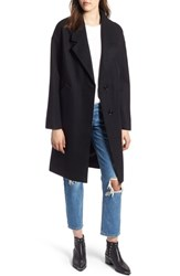 Kendall Kylie Drop Shoulder Midi Coat Black