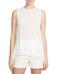 1.State Twisted Split Back Tank Top White