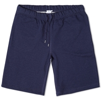 Sunspel Loopback Sweat Short Navy Melange
