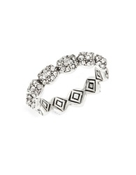 House Of Harlow Pave Stackable Ring Silver