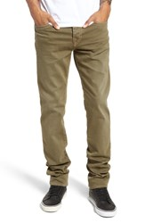 True Religion Brand Jeans Rocco Skinny Fit Pants Military Green
