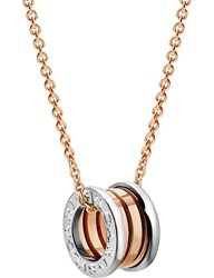 Bulgari Bvlgari B.Zero1 18Kt Pink And White Gold Necklace