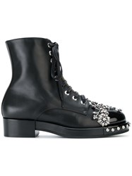 N 21 No21 Embellished Ankle Boots Leather Patent Leather Rubber Black