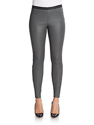 Helmut Lang Leather Leggings Grey