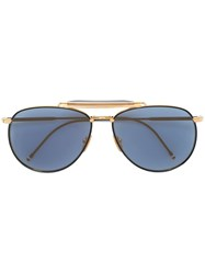 Thom Browne Aviator Sunglasses Blue