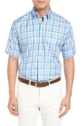 Peter Millar Men's Scandinavian Plaid Regular Fit Sport Shirt