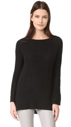 Theperfext Cable Cashmere Tunic Black