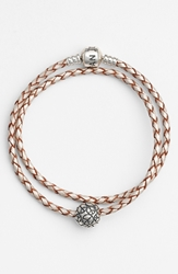 Pandora Design Leather Wrap Charm Bracelet
