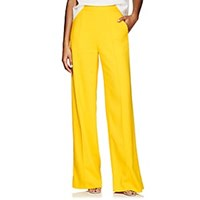 Lisa Perry Crepe Wide Leg Trousers Yellow