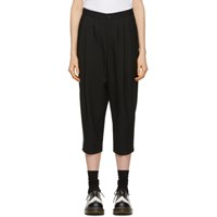 Comme Des Garcons Black Pleated Trousers
