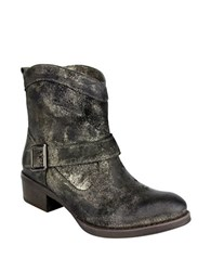 Naughty Monkey Metalicah Leather Ankle Boots Pewter