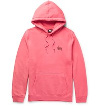 Stussy Printed Fleece Back Cotton Blend Jersey Hoodie Pink