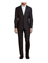 Ermenegildo Zegna Two Piece Pinstripe Wool Suit Navy