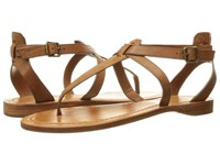Frye Rachel T Sandal Cognac Smooth Full Grain Women's Sandals Red