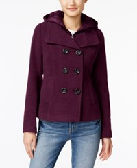 American Rag Hooded Peacoat Only At Macy's Zinfandel