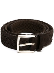 Orciani Braided Buckle Belt Brown