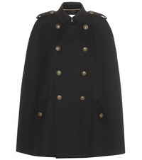 Saint Laurent Wool Cape Black