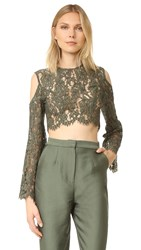 Keepsake Porcelain Lace Top Khaki