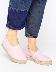 Pieces Haila Blush Stacked Espadrilles Pink
