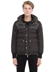 Moncler Wilms Nylon And Flannel Down Jacket