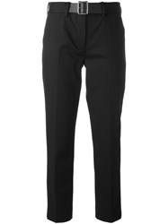 Moncler Belted Tailored Trousers Black