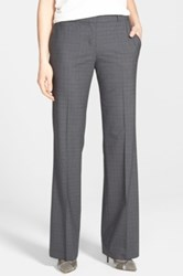 Hugo Boss 'Tulira' Stretch Wool Trousers Black