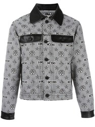 Ktz Monogram Print Shirt Jacket Black