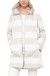 Akris Punto Women's Water Resistant Stripe Reversible Coat