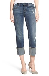 Women's Caslon Distressed Cuffed Crop Jeans