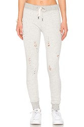 N Philanthropy Nikki Distressed Sweatpants Gray