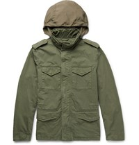 Tod's Cotton Field Jacket Green