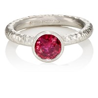 Malcolm Betts Ruby And Platinum Ring Silver